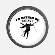 I'd rather be skiing ! Wall Clock