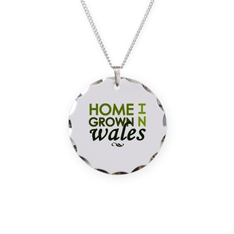 'Home Grown In Wales' Necklace Circle Charm