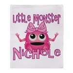 Little Monster Nichole Throw Blanket