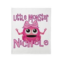 Little Monster Nichole Throw Blanket