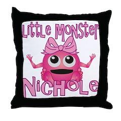 Little Monster Nichole Throw Pillow