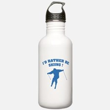 I'd rather be skiing ! Water Bottle