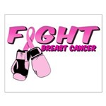 Fight Breast Cancer Pink Boxi Small Poster