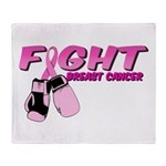 Fight Breast Cancer Pink Boxi Throw Blanket
