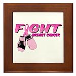 Fight Breast Cancer Pink Boxi Framed Tile