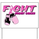Fight Breast Cancer Pink Boxi Yard Sign