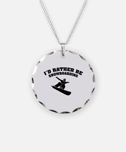 I'd rather be snowboarding Necklace