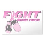 Fight Breast Cancer Pink Boxi Sticker (Rectangle)