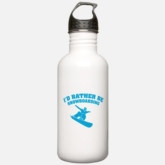 I'd rather be snowboarding Water Bottle