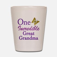 One Incredible Great Grandma Shot Glass