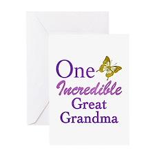 One Incredible Great Grandma Greeting Card