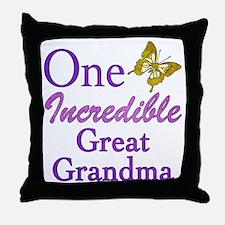 One Incredible Great Grandma Throw Pillow