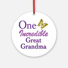 One Incredible Great Grandma Ornament (Round)