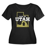 Made In Utah Women's Plus Size Scoop Neck Dark T-S