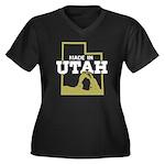 Made In Utah Women's Plus Size V-Neck Dark T-Shirt