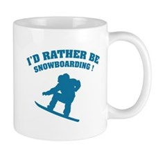 I'd rather be snowboarding Small Mug