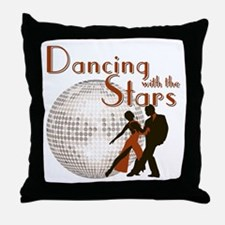 Retro Dancing with the Stars Throw Pillow
