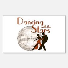 Retro Dancing with the Stars Rectangle Decal