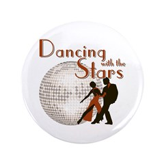 """Retro Dancing with the Stars 3.5"""" Button"""