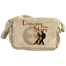 Retro Dancing with the Stars Canvas Messenger Bag