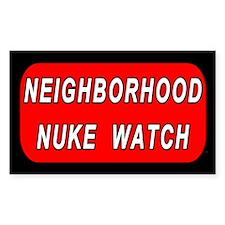 Neighborhood Nuke Watch Rectangle Decal