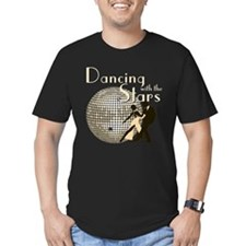 Retro Dancing with the Stars Men's Dark Fitted T-S