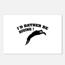 I'd rather be diving ! Postcards (Package of 8)