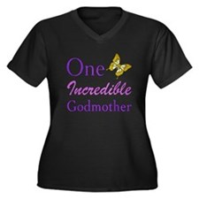 One Incredible Godmother Women's Plus Size V-Neck