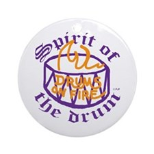 DRUMS ON FIRE™ Ornament (Round)