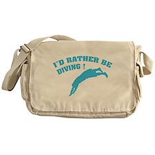 I'd rather be diving ! Messenger Bag