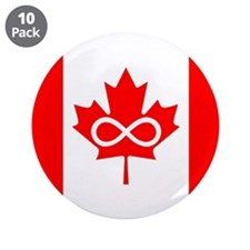 """Canadian Metis Flag 3.5"""" Button (10 pack)"""