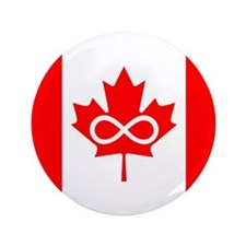 """Canadian Metis Flag 3.5"""" Button"""