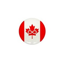 Canadian Metis Flag Mini Button (100 pack)