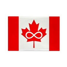 Canadian Metis Flag Rectangle Magnet