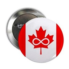 "Canadian Metis Flag 2.25"" Button"