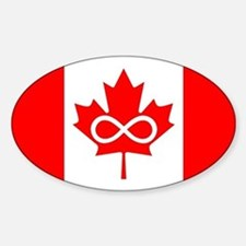Canadian Metis Flag Sticker (Oval)