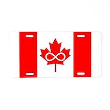 Canadian Metis Flag Aluminum License Plate