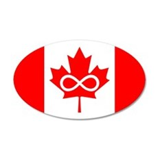 Canadian Metis Flag 22x14 Oval Wall Peel