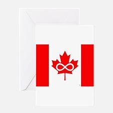 Canadian Metis Flag Greeting Card