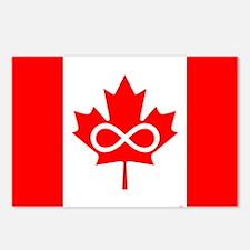Canadian Metis Flag Postcards (Package of 8)