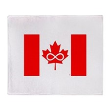 Canadian Metis Flag Throw Blanket