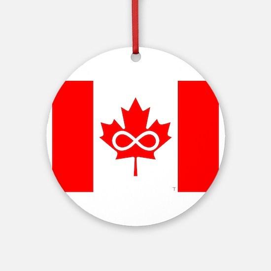 Canadian Metis Flag Ornament (Round)