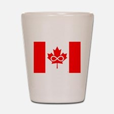 Canadian Metis Flag Shot Glass