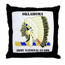 DUI-OKLAHOMA ANG WITH TEXT Throw Pillow