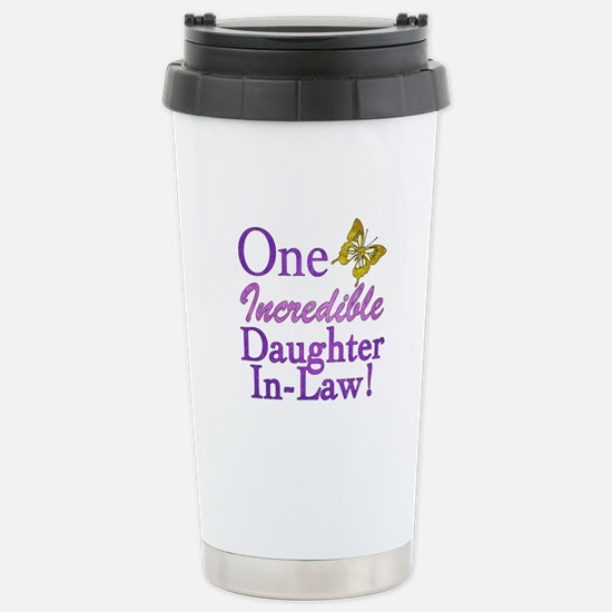 One Incredible Daughter-In-Law Stainless Steel Tra