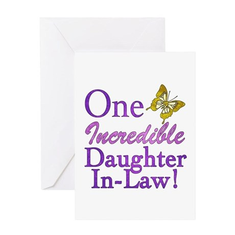 One Incredible Daughter-In-Law Greeting Card