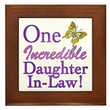 One Incredible Daughter-In-Law Framed Tile