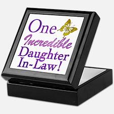 One Incredible Daughter-In-Law Keepsake Box