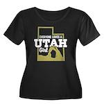Utah Girl Women's Plus Size Scoop Neck Dark T-Shir