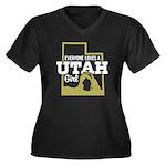 Utah Girl Women's Plus Size V-Neck Dark T-Shirt